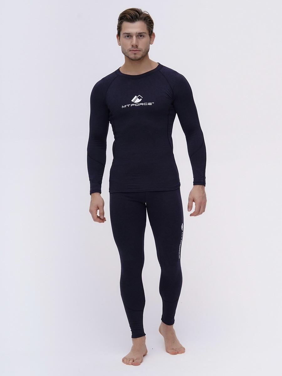 Купить оптом Термобелье мужское темно-синего цвета 2205TS