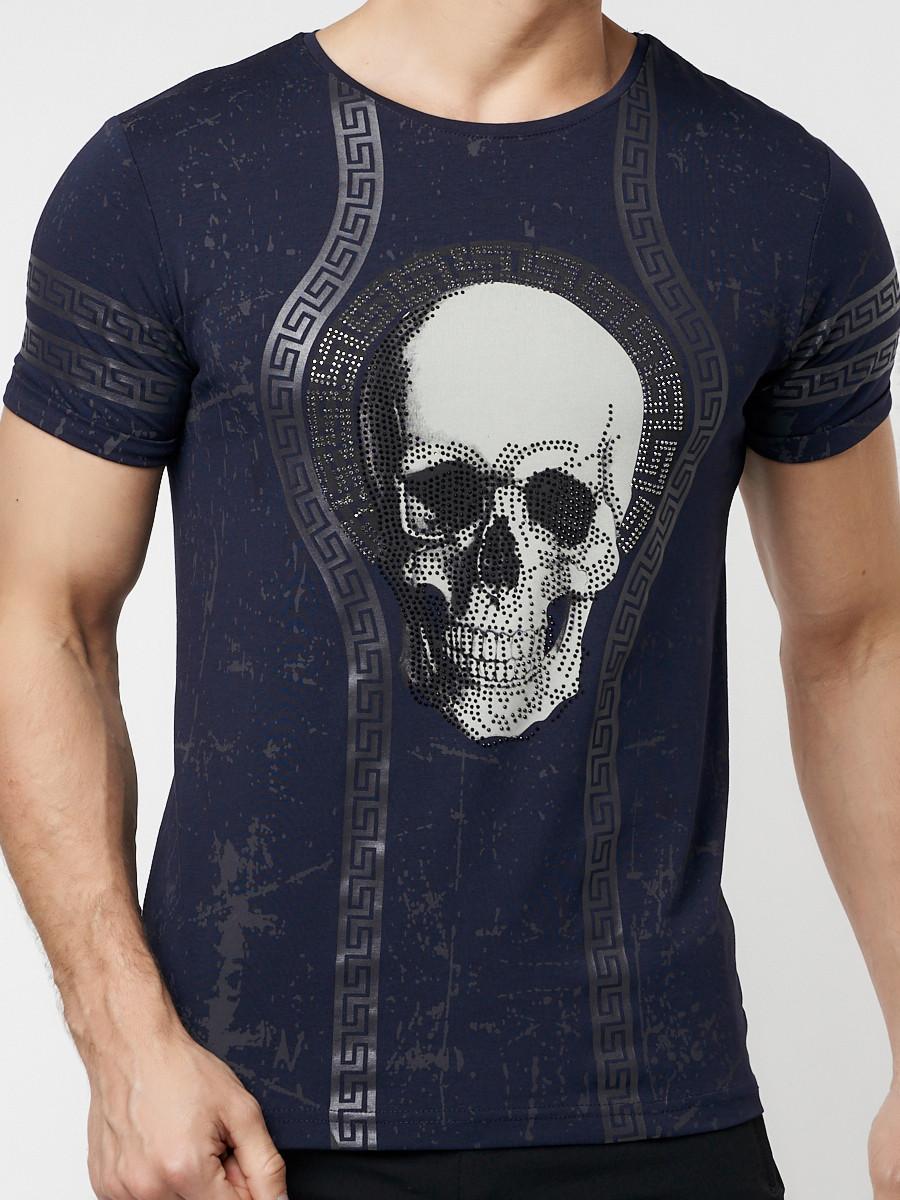 Подростковая футболка темно-синего цвета 220034TS