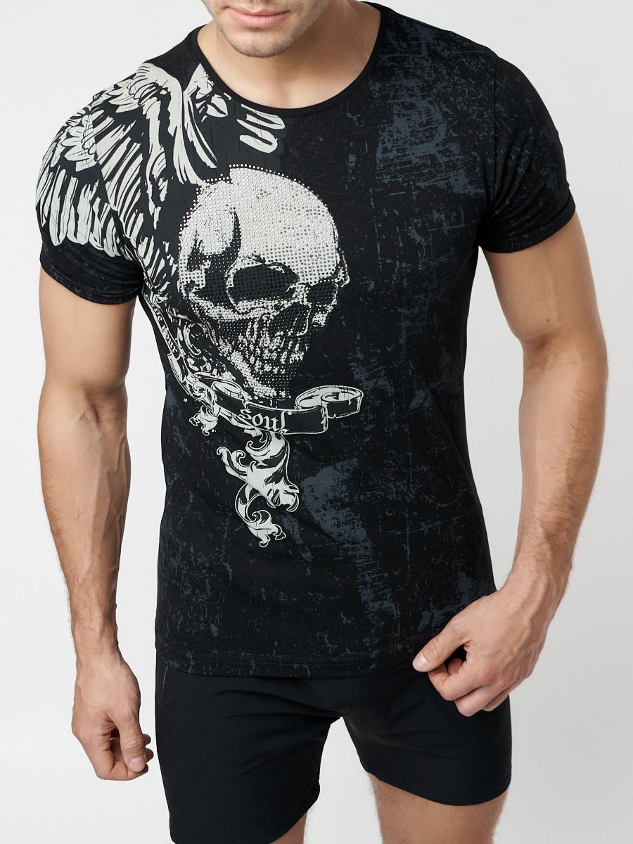Подростковая футболка черного цвета 220035Ch