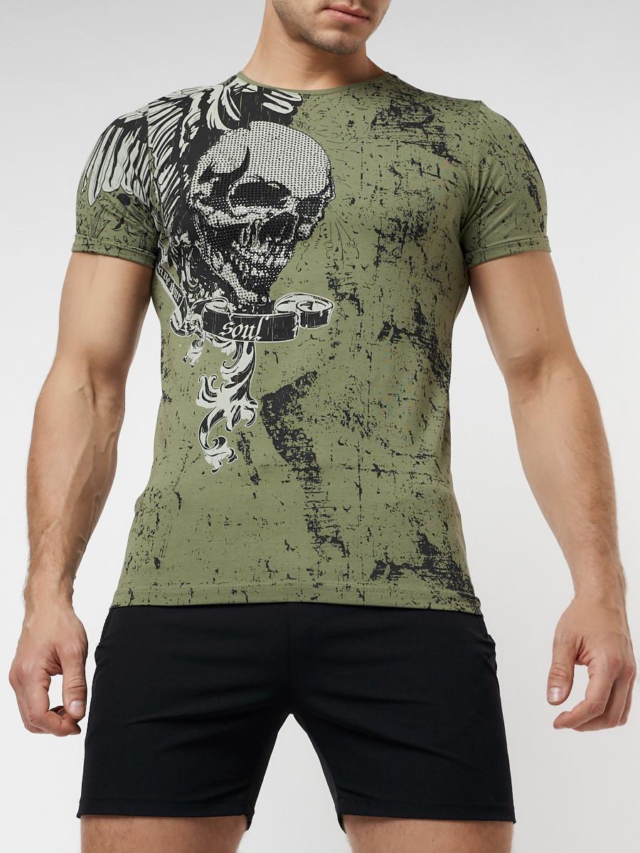 Подростковая футболка хаки цвета 220035Kh