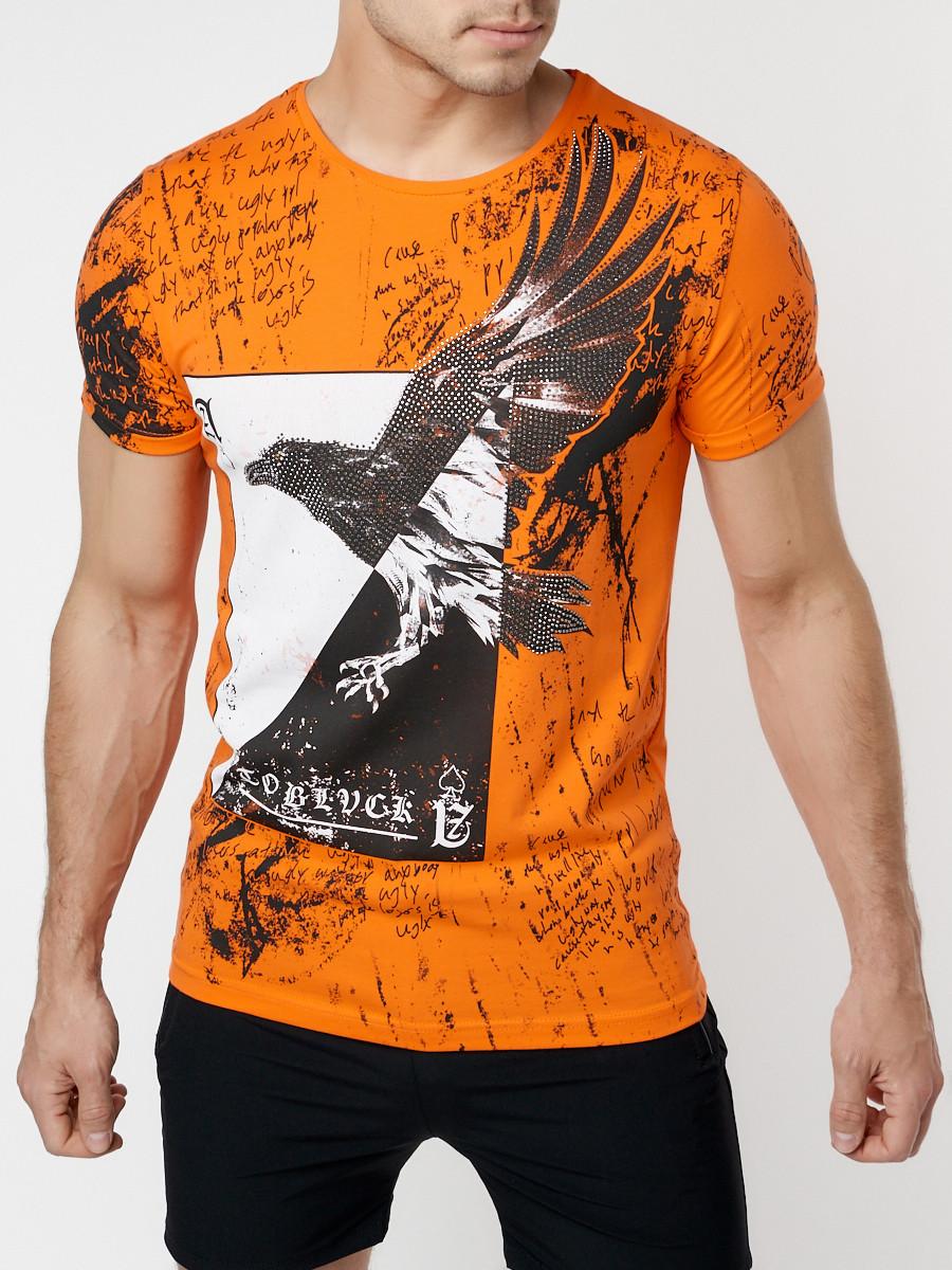 Подростковая футболка оранжевого цвета 220036O