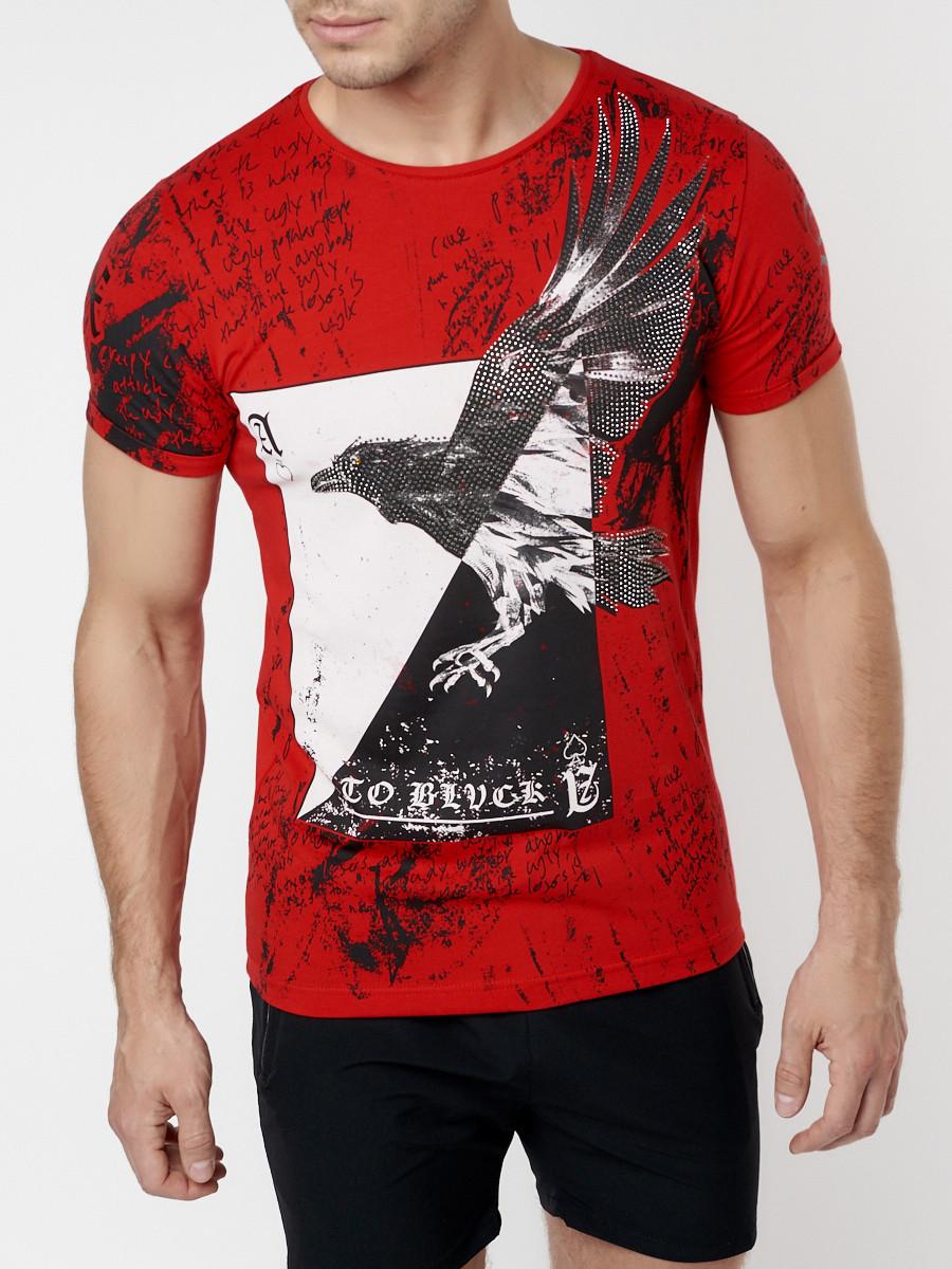 Подростковая футболка красного цвета 220036Kr