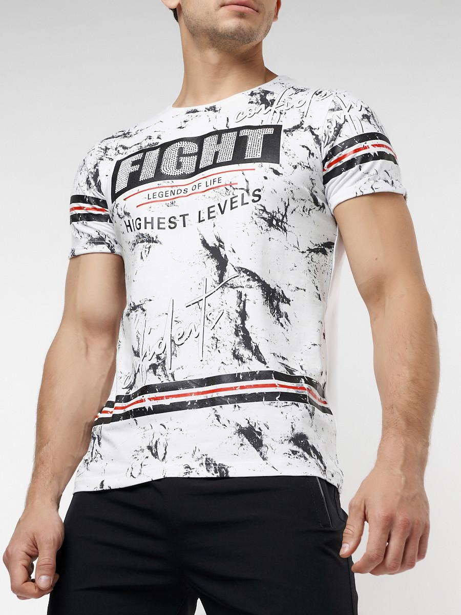 Купить оптом Подростковая футболка белого цвета 220144Bl в Екатеринбурге