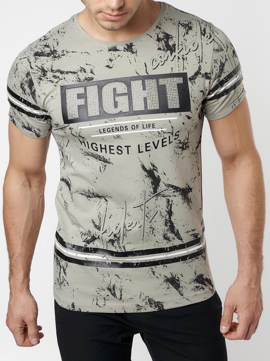 Купить оптом Подростковая футболка серого цвета 220144Sr в Екатеринбурге