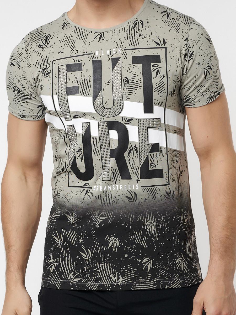 Купить оптом Подростковая футболка бежевого цвета 220147B в Екатеринбурге