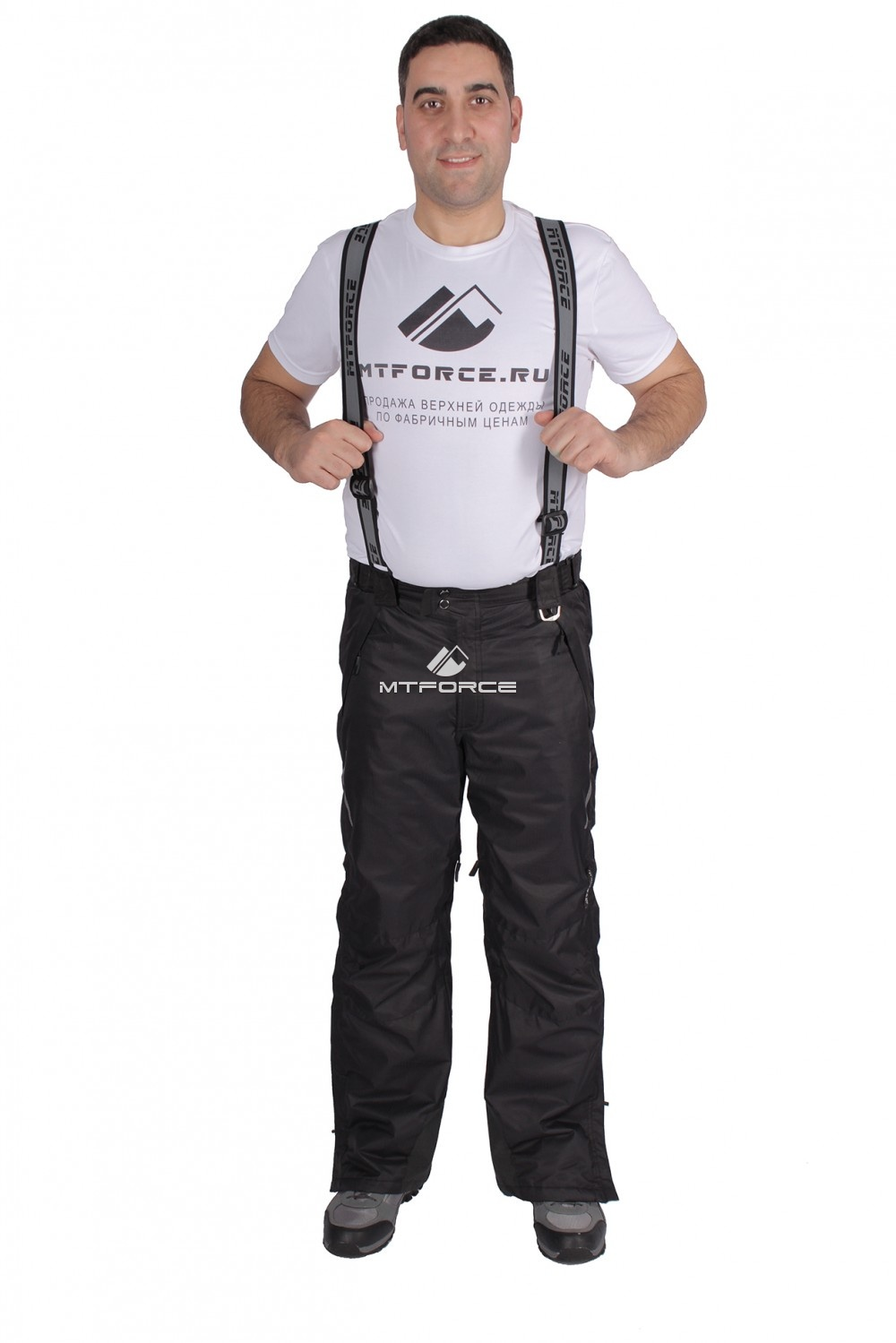 Купить                                  оптом Брюки горнолыжные мужские черного цвета 22015Ch