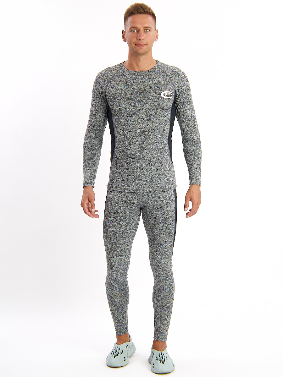 Купить оптом Термобелье мужское серого цвета 2202Sr в Екатеринбурге