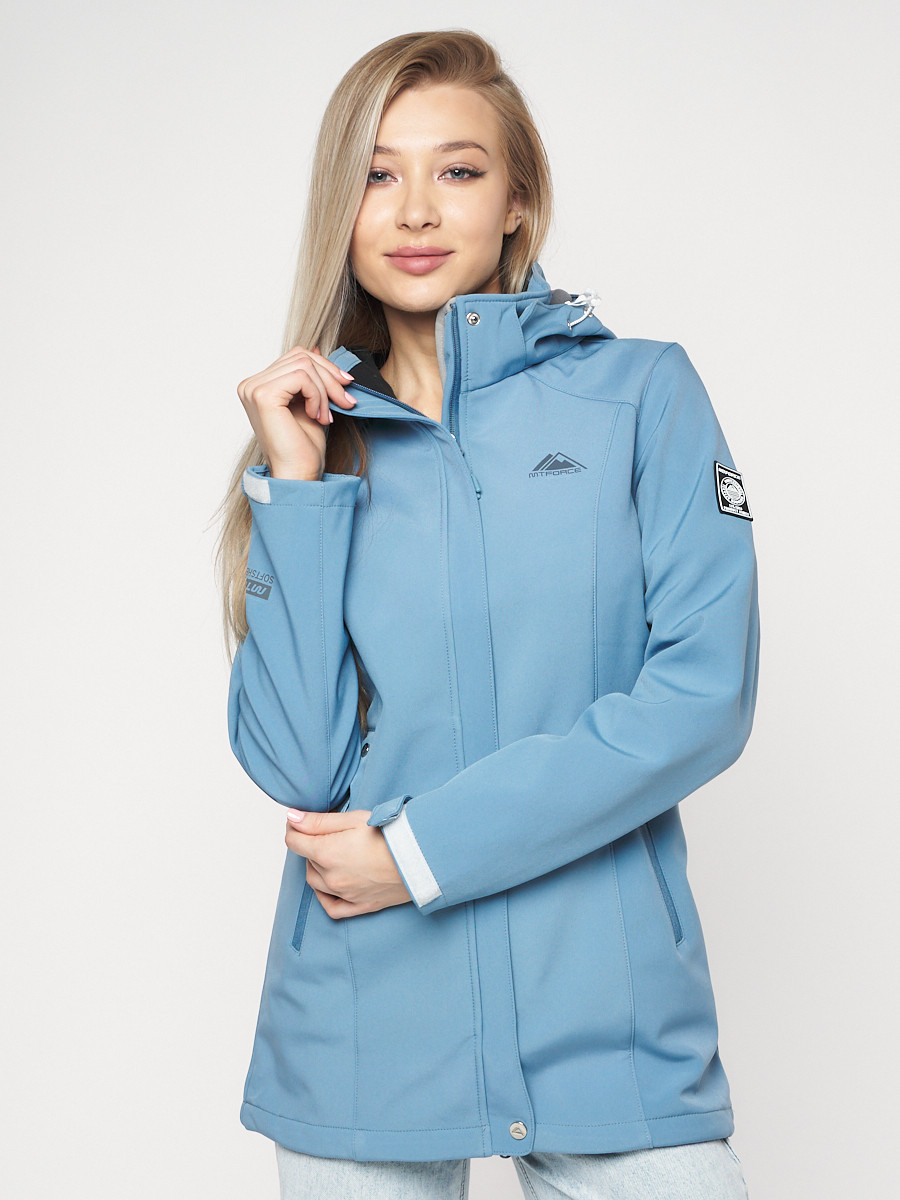 Купить оптом Ветровка женская MTFORCE синего цвета 20371S в Екатеринбурге
