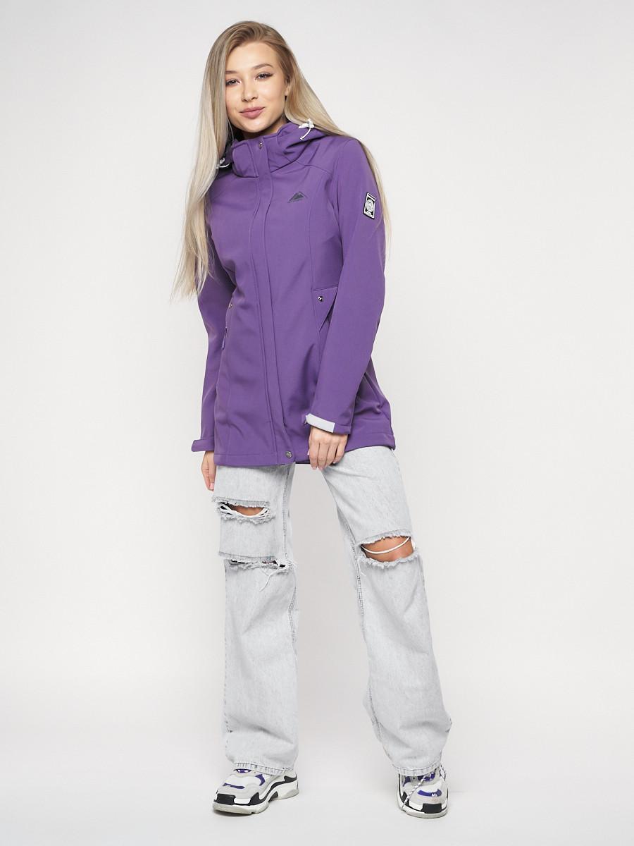 Купить оптом Ветровка женская MTFORCE фиолетового цвета 20371F в Екатеринбурге
