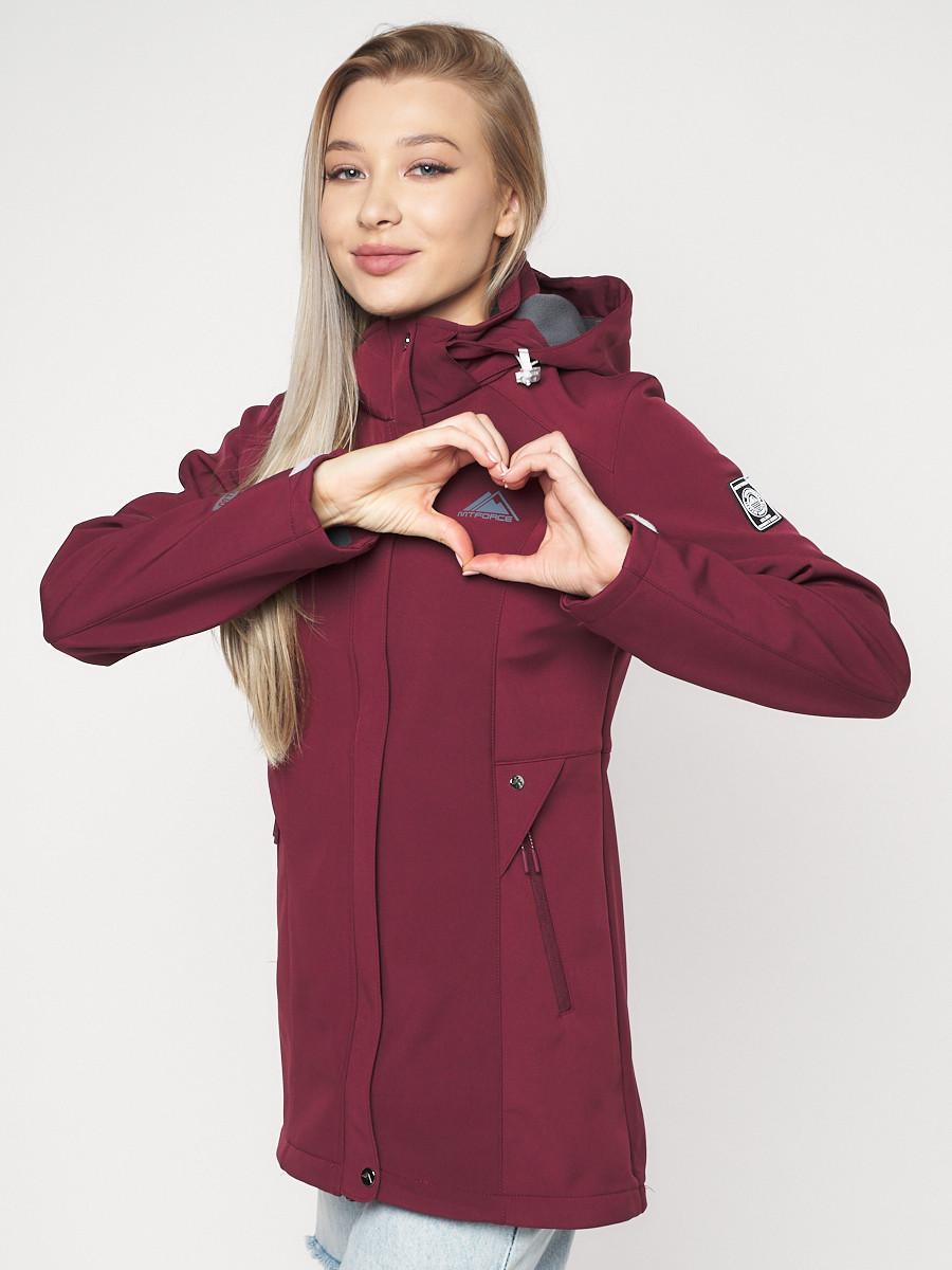 Купить оптом Ветровка женская MTFORCE бордового цвета 20371Bo в Екатеринбурге