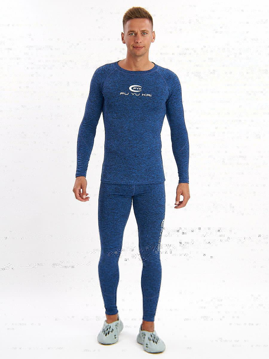 Купить оптом Термобелье мужское синего цвета 2206S в Екатеринбурге
