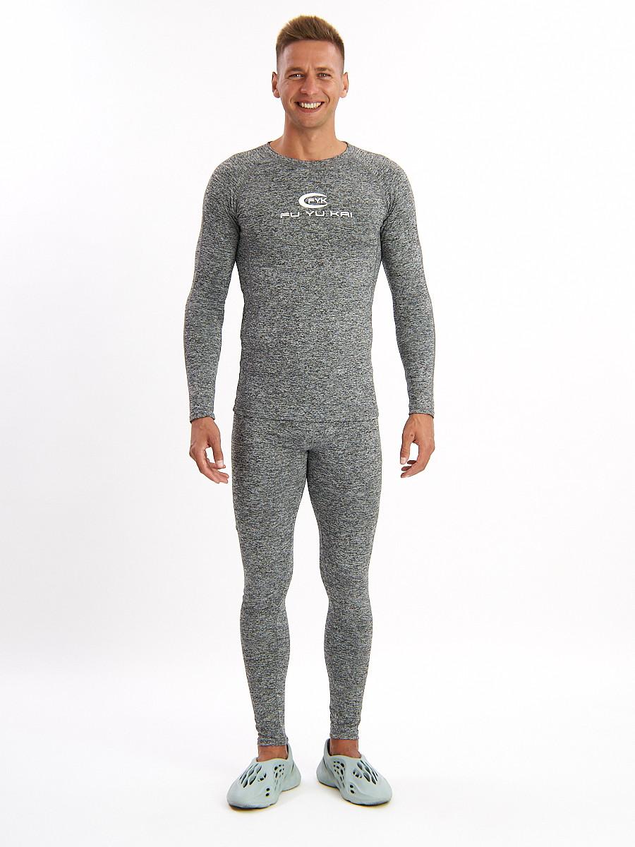 Купить оптом Термобелье мужское серого цвета 2206Sr в Екатеринбурге