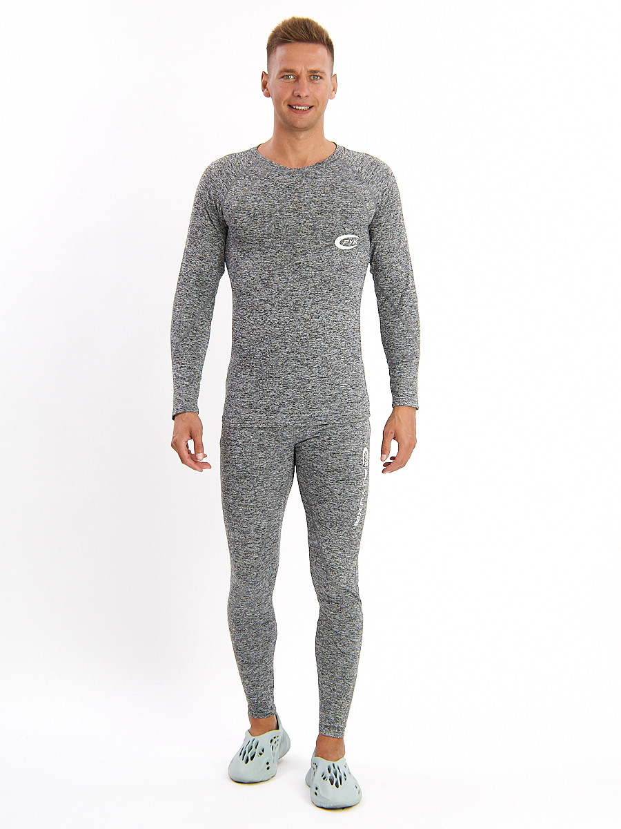 Купить оптом Термобелье мужское серого цвета 2208Sr в Екатеринбурге