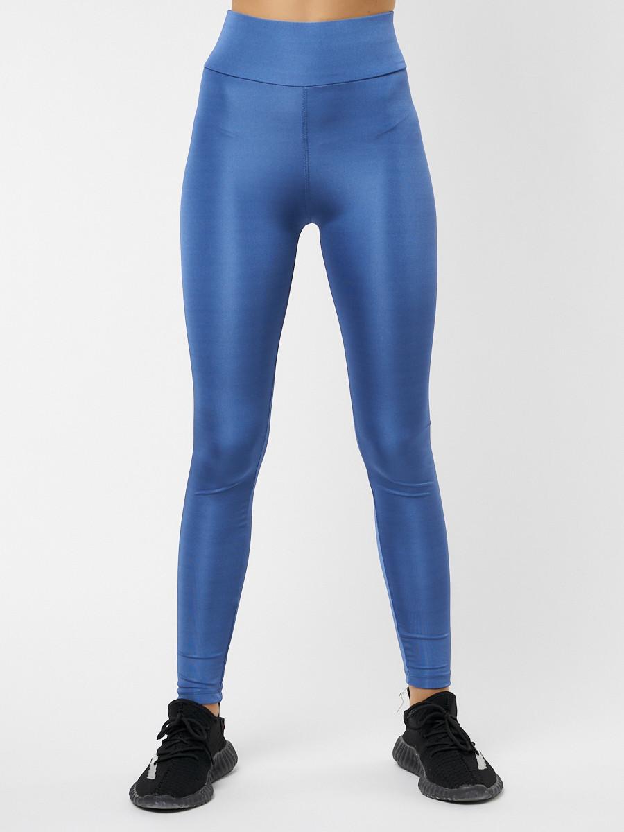 Купить оптом Леггинсы женские синего цвета 22092S в Екатеринбурге