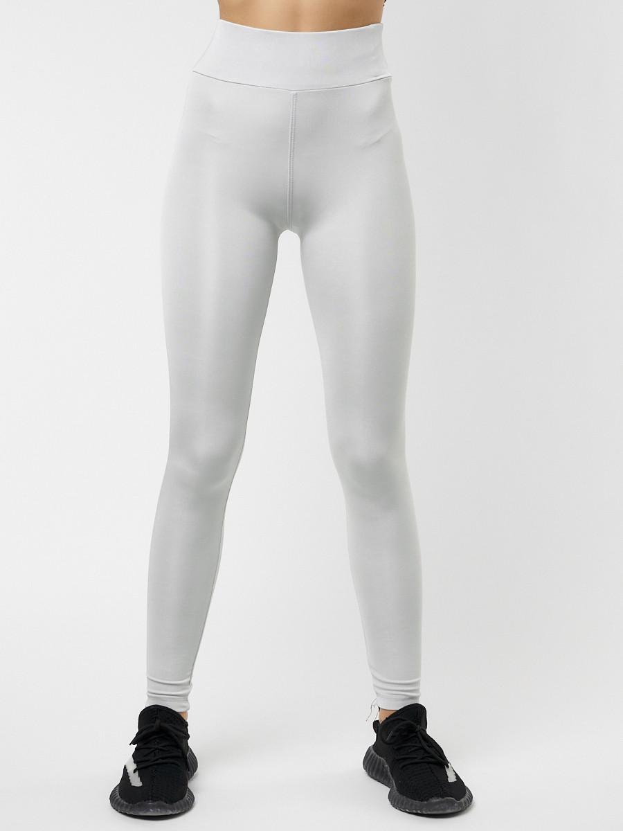 Купить оптом Леггинсы женские светло-серого цвета 22092SS в Екатеринбурге