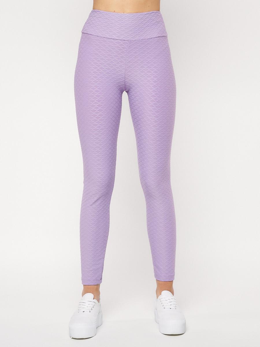 Купить оптом Леггинсы женские фиолетового цвета 22099F в Екатеринбурге