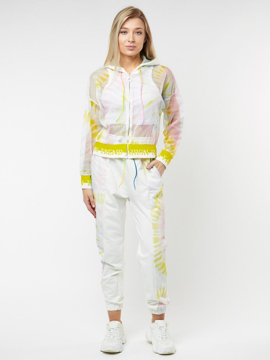 Купить оптом Спортивный костюм белого цвета 22103Bl в Казани