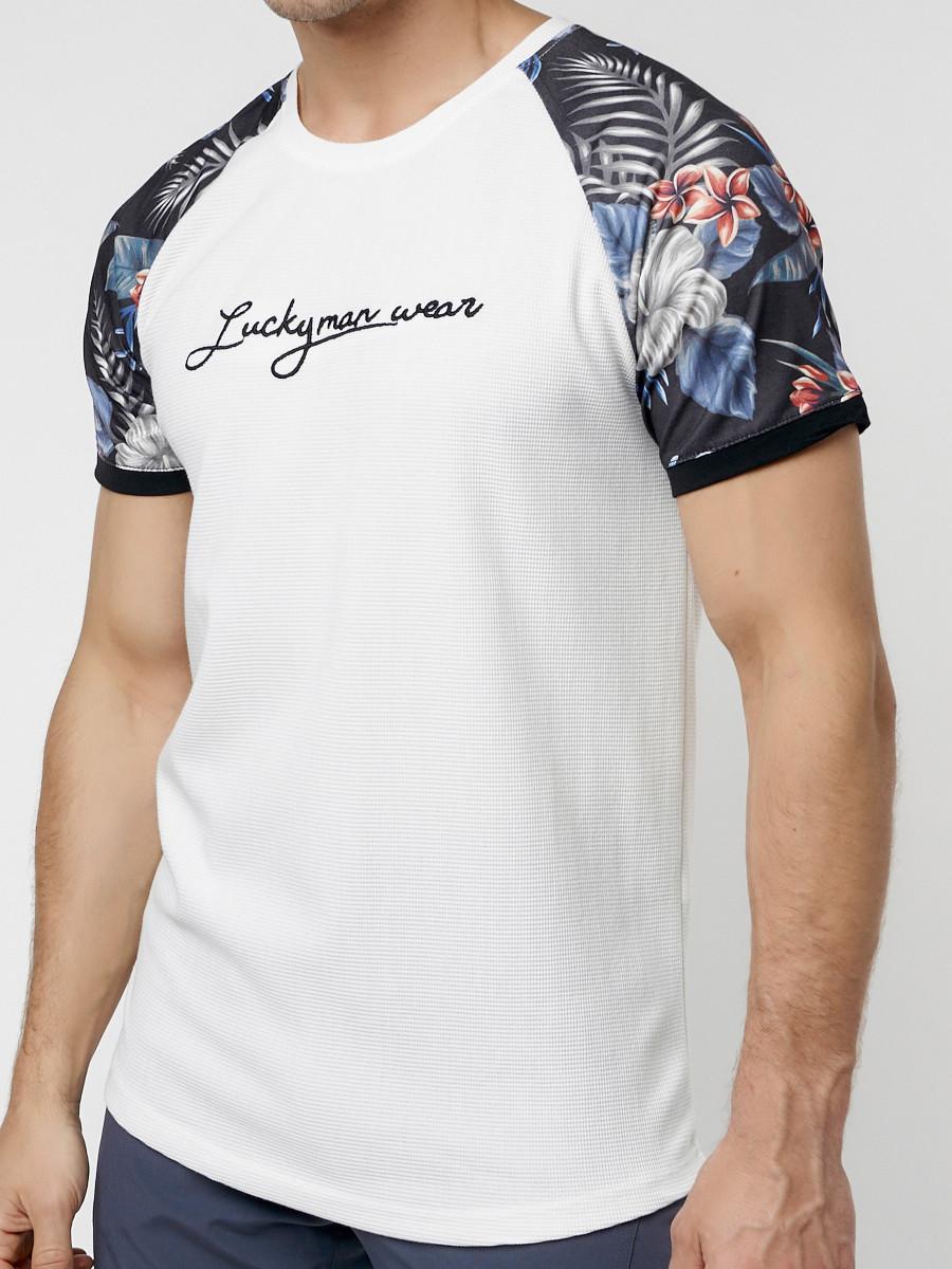 Купить оптом Футболка с вышивкой белого цвета 225176Bl в Екатеринбурге