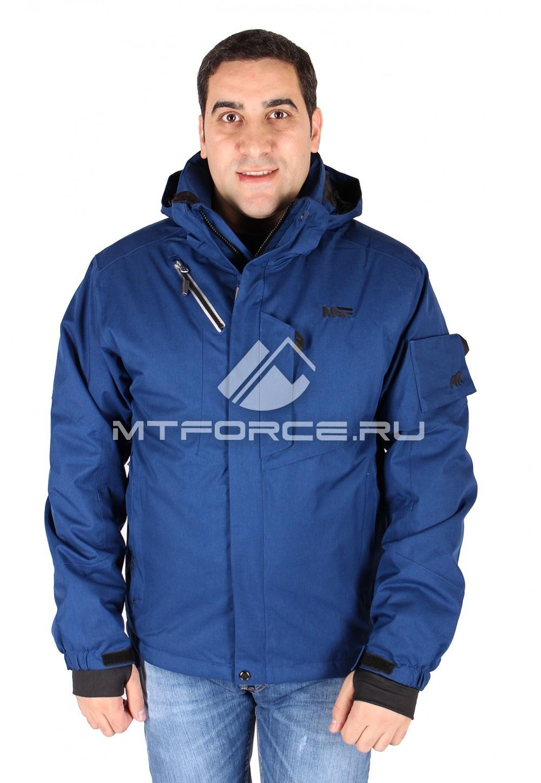 Купить                                  оптом Куртка мужская синего цвета 23019S