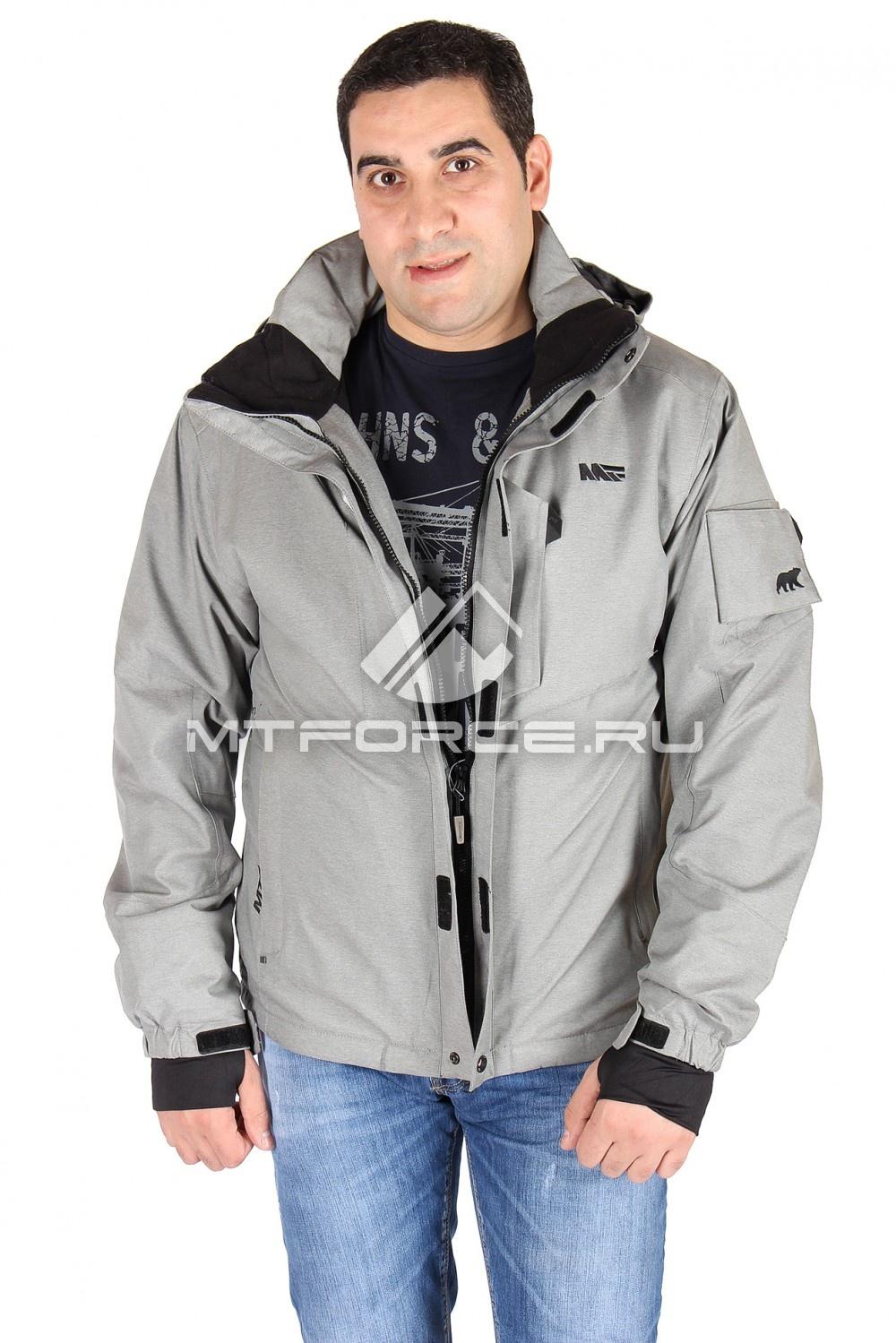 Купить                                  оптом Куртка мужская серого цвета 23019Sr