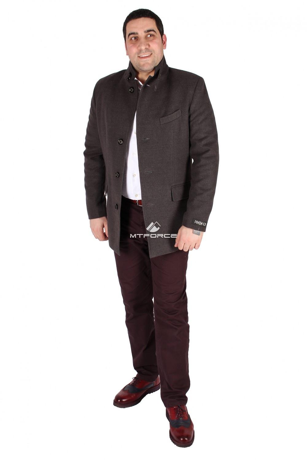 Купить  оптом Полупальто мужское серого цвета M23Sr