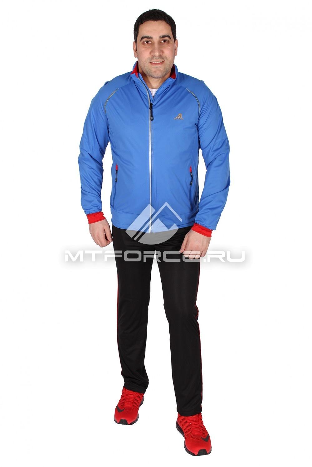 Купить                                  оптом Спортивный костюм мужской синего цвета 23157S