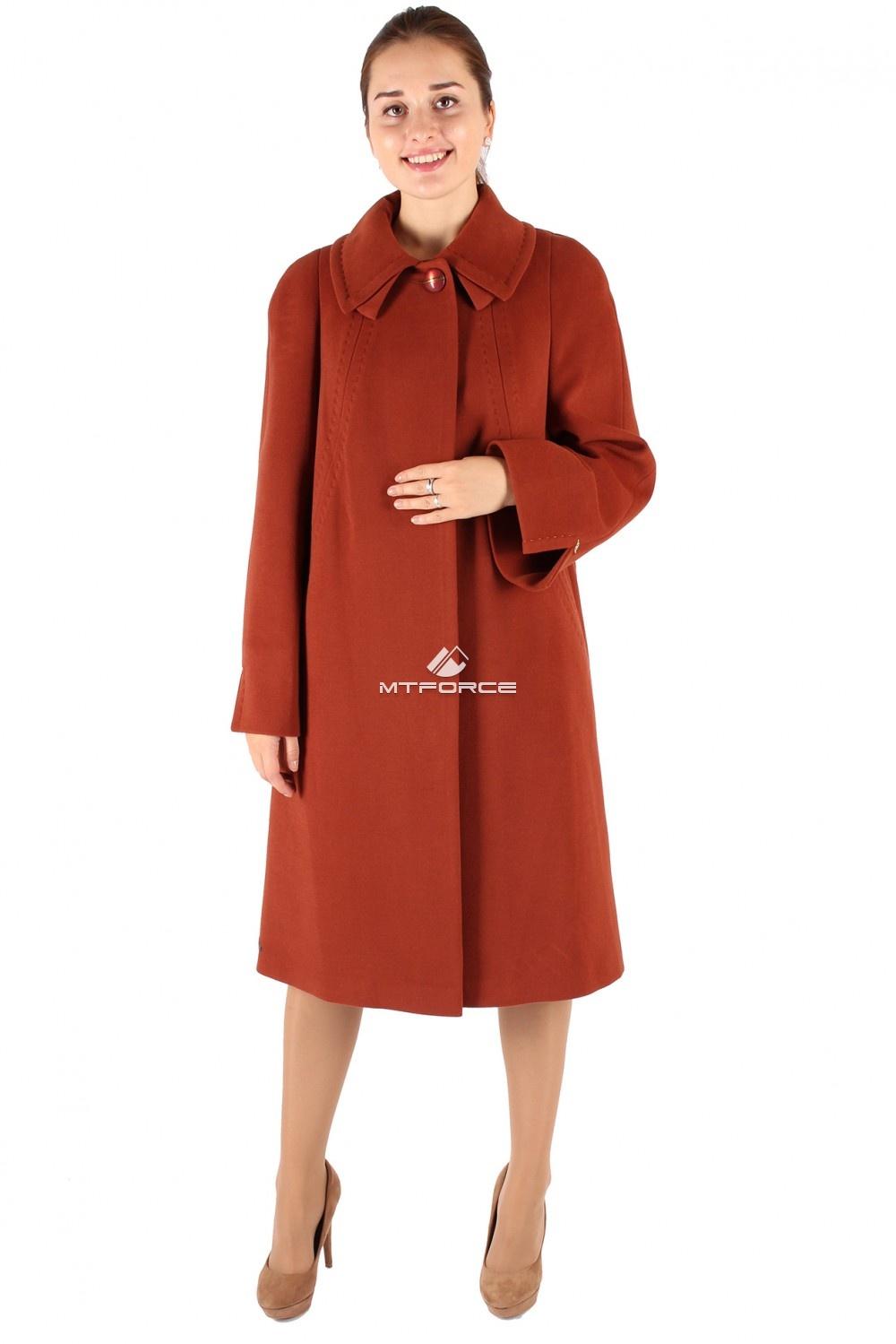 Купить оптом Пальто женское коричневого цвета 265K