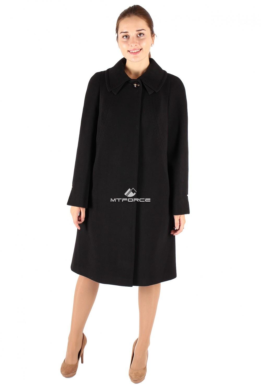 Купить                                  оптом Пальто женское черного цвета 265Сh в Санкт-Петербурге