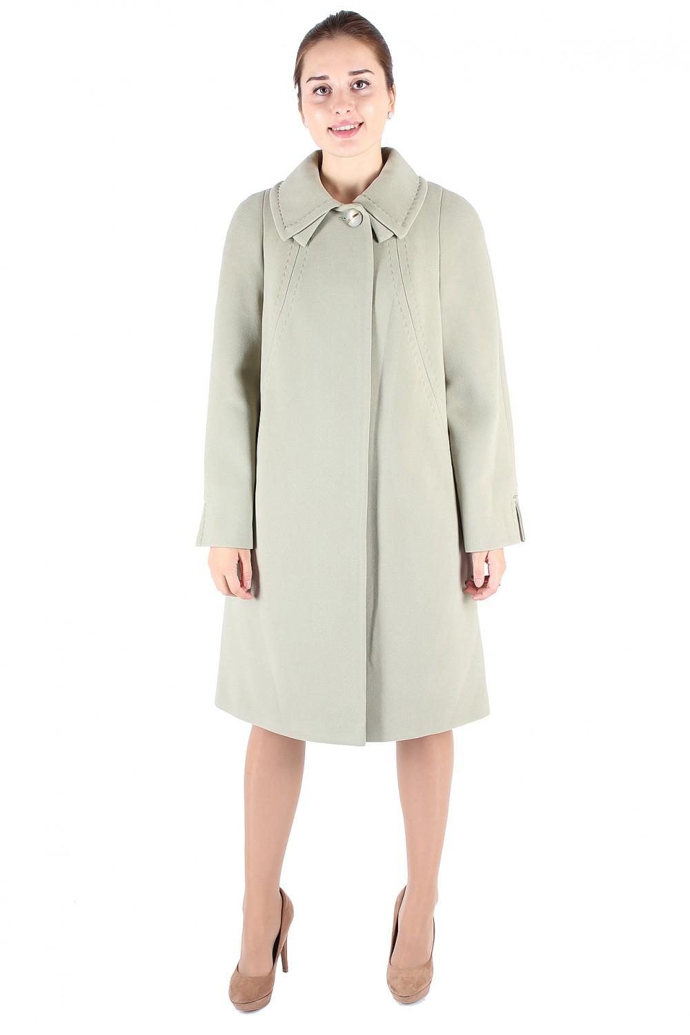 Купить оптом Пальто женское фисташкового цвета 265Fs в Екатеринбурге