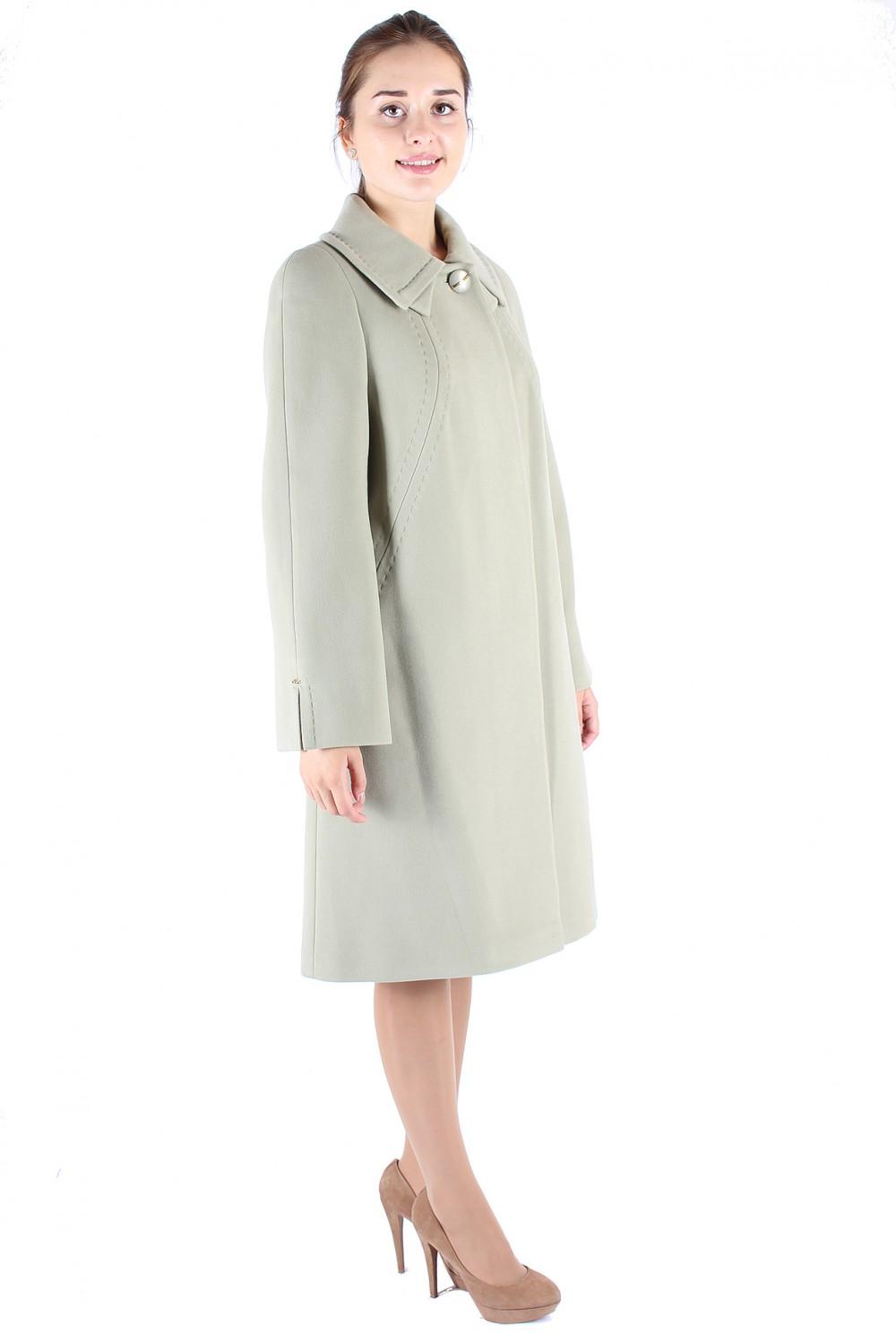 Купить оптом Пальто женское фисташкового цвета 265Fs в  Красноярске