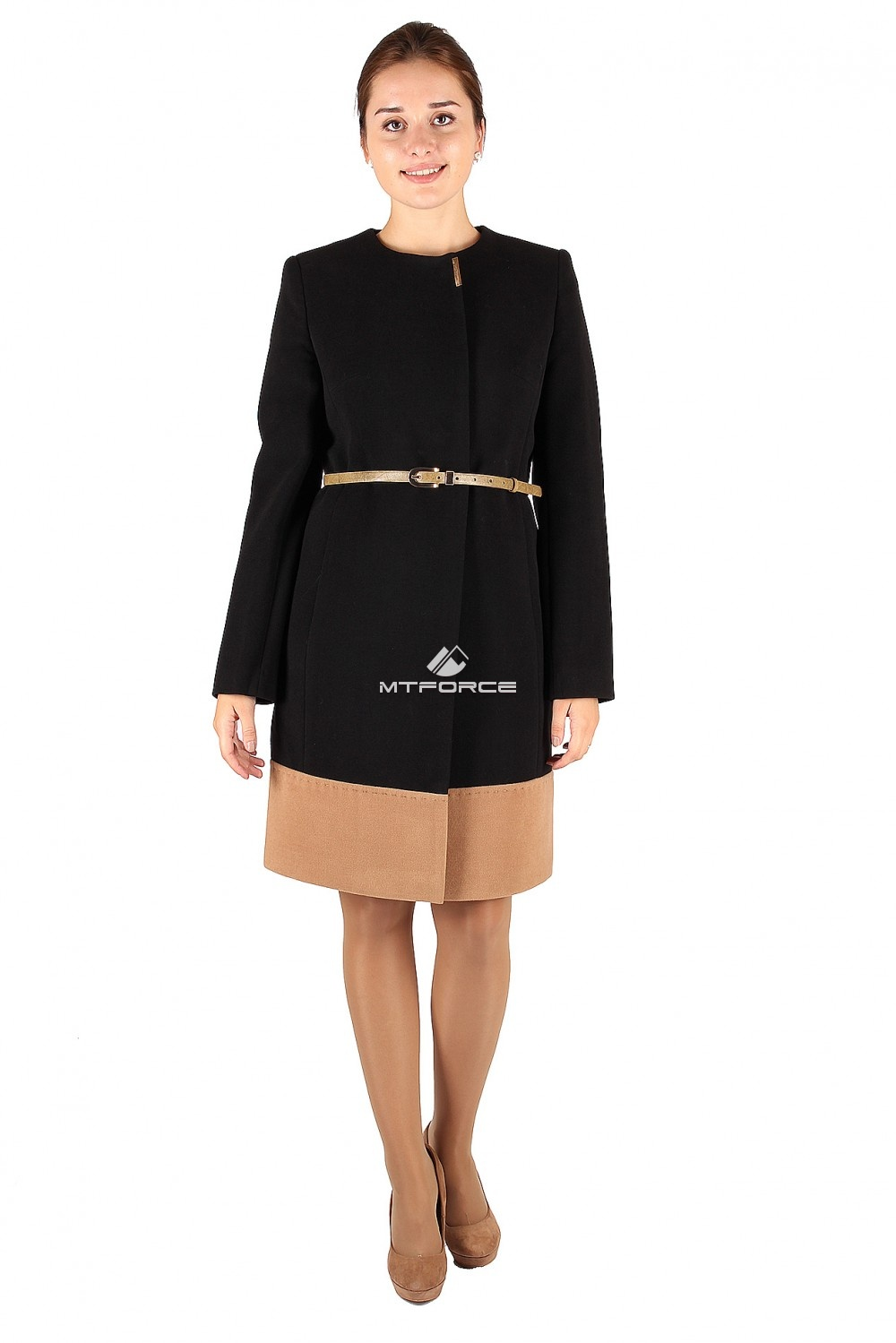 Купить  оптом Пальто женское черного цвета 268Ch