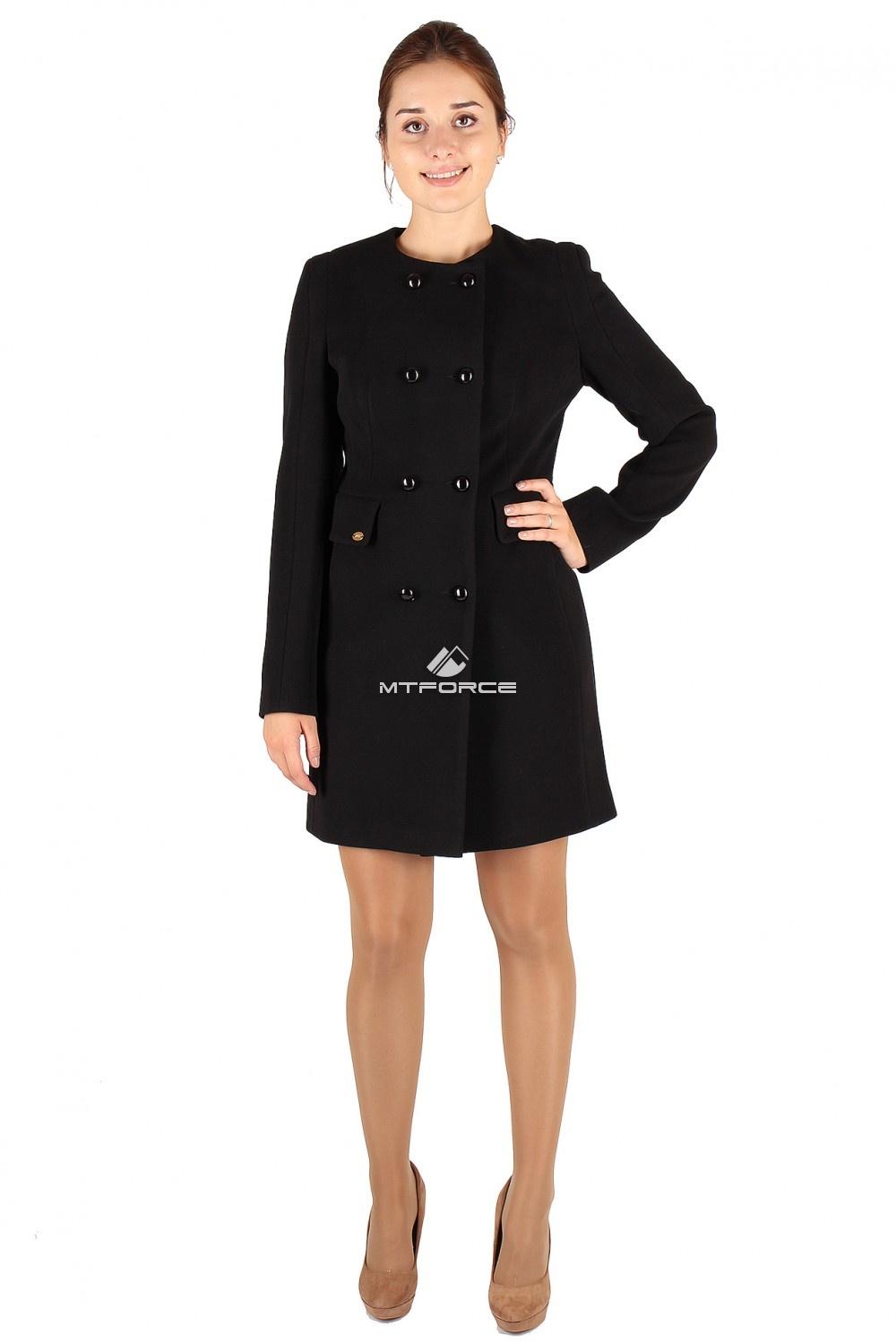 Купить оптом Пальто женское черного цвета 277Ch