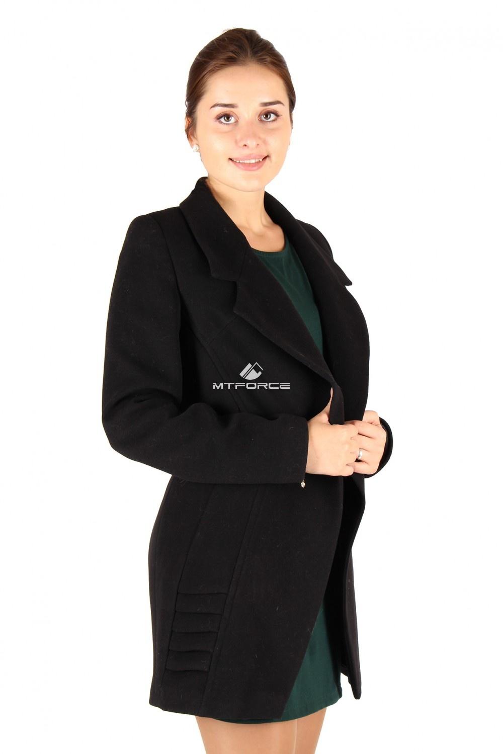 Купить оптом Пальто женское черного цвета 286Ch в Санкт-Петербурге