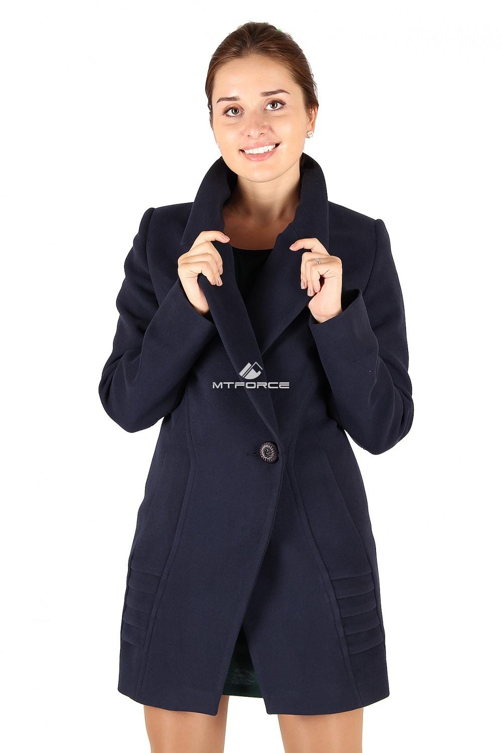 Купить                                  оптом Пальто женское темно-синего цвета 286TS