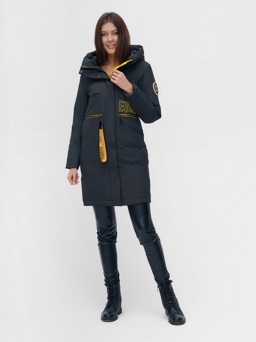Купить оптом Куртка удлиненная TRENDS SPORT болотного цвета 22297Bt