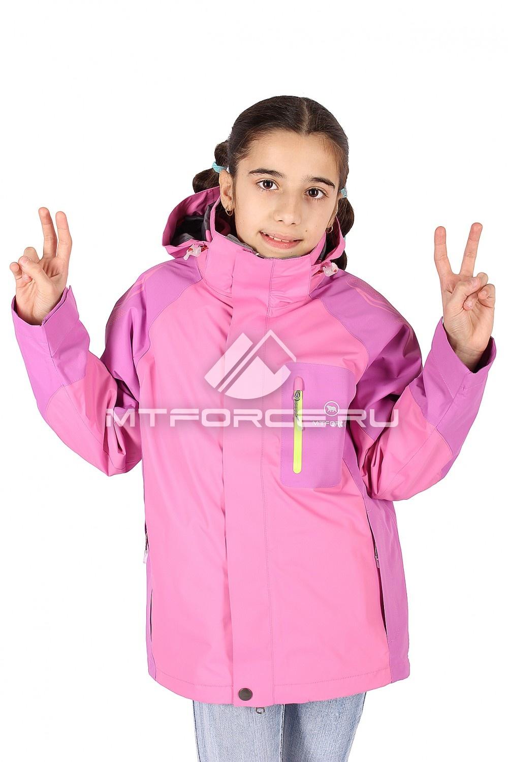 Купить оптом Куртка девочка три в одном розового цвета 303R