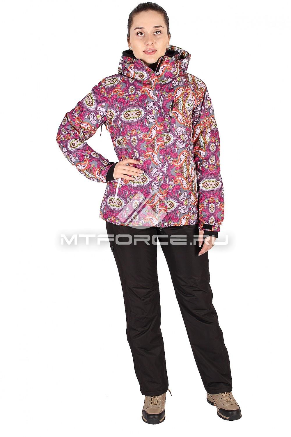 Купить                                  оптом Костюм горнолыжный женский фиолетового цвета 0305F