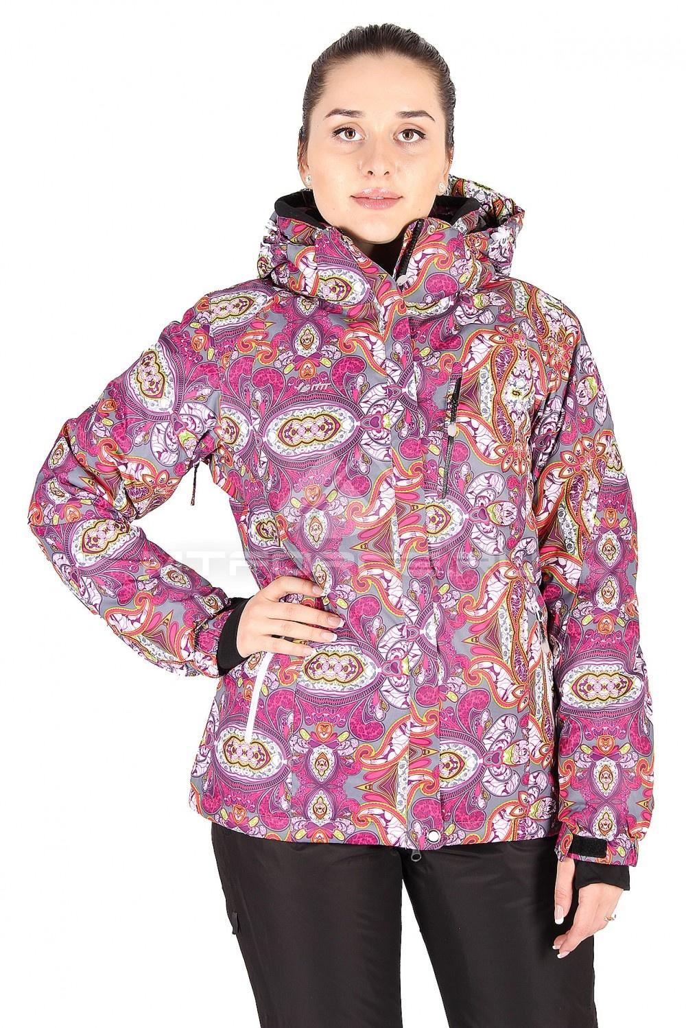 Купить оптом Куртка горнолыжная женская фиолетового цвета 305F