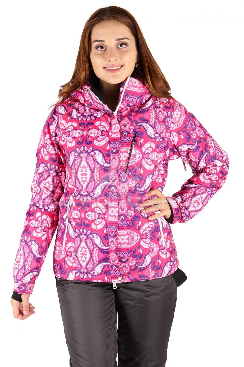 Купить                                  оптом Куртка горнолыжная женская розового цвета 305R