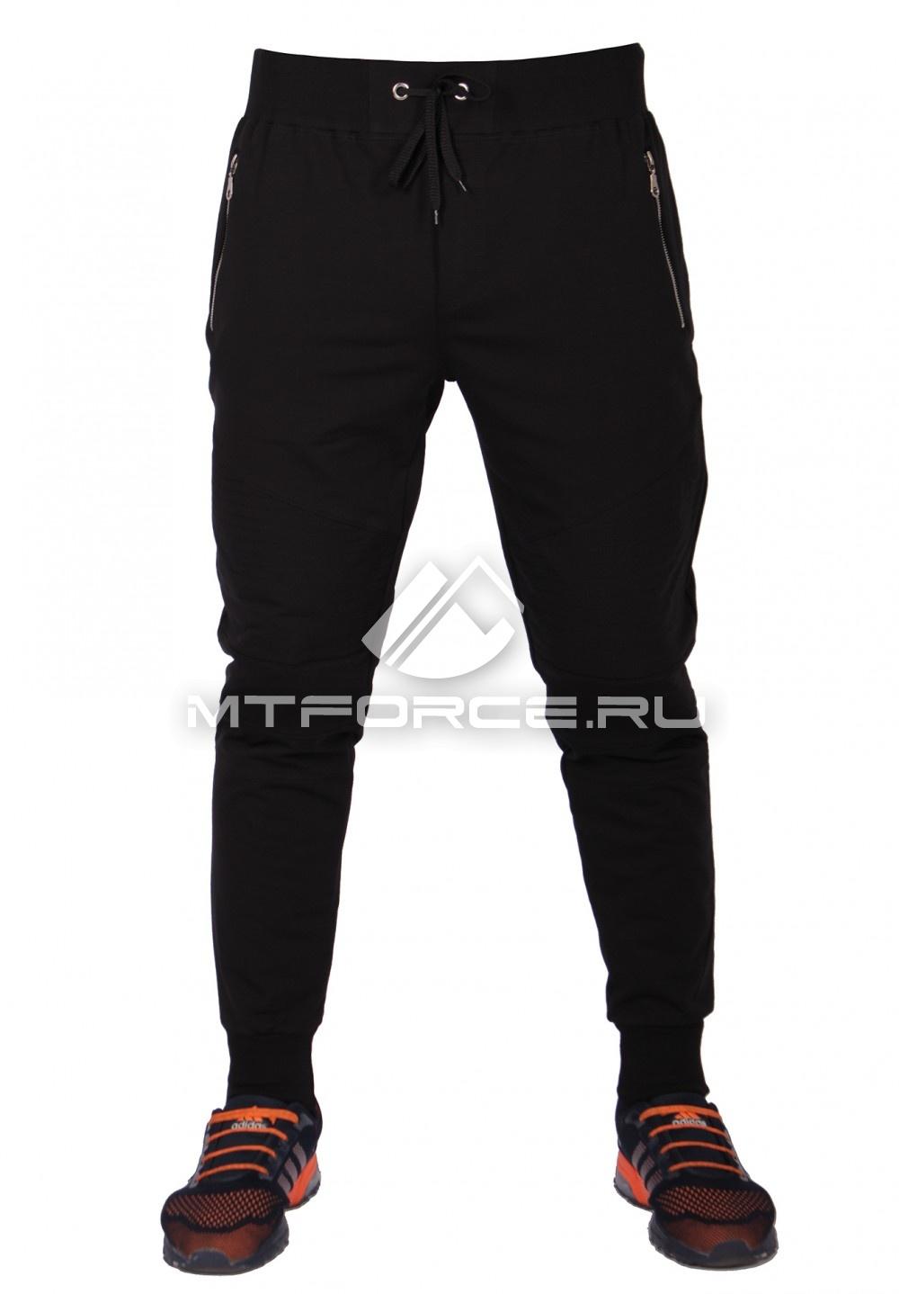Купить                                  оптом Брюки трикотажные мужские модные черного цвета 313Ch в Санкт-Петербурге
