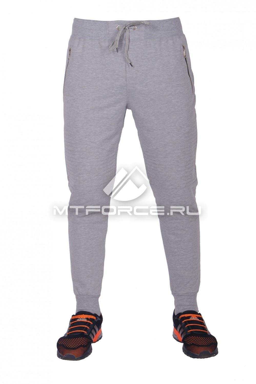 Купить  оптом Брюки трикотажные мужские модные серого цвета 313Sr