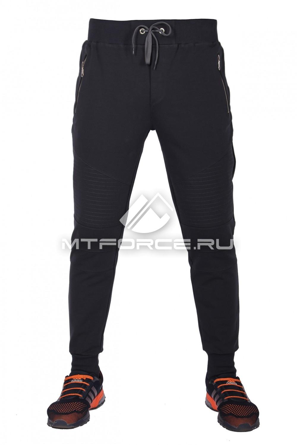 Купить                                  оптом Брюки трикотажные мужские модные темно-серый цвета 313TC