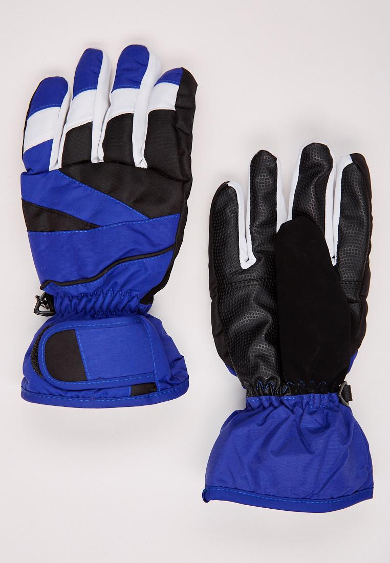 Перчатки подростковые горнолыжные синего цвета 323S