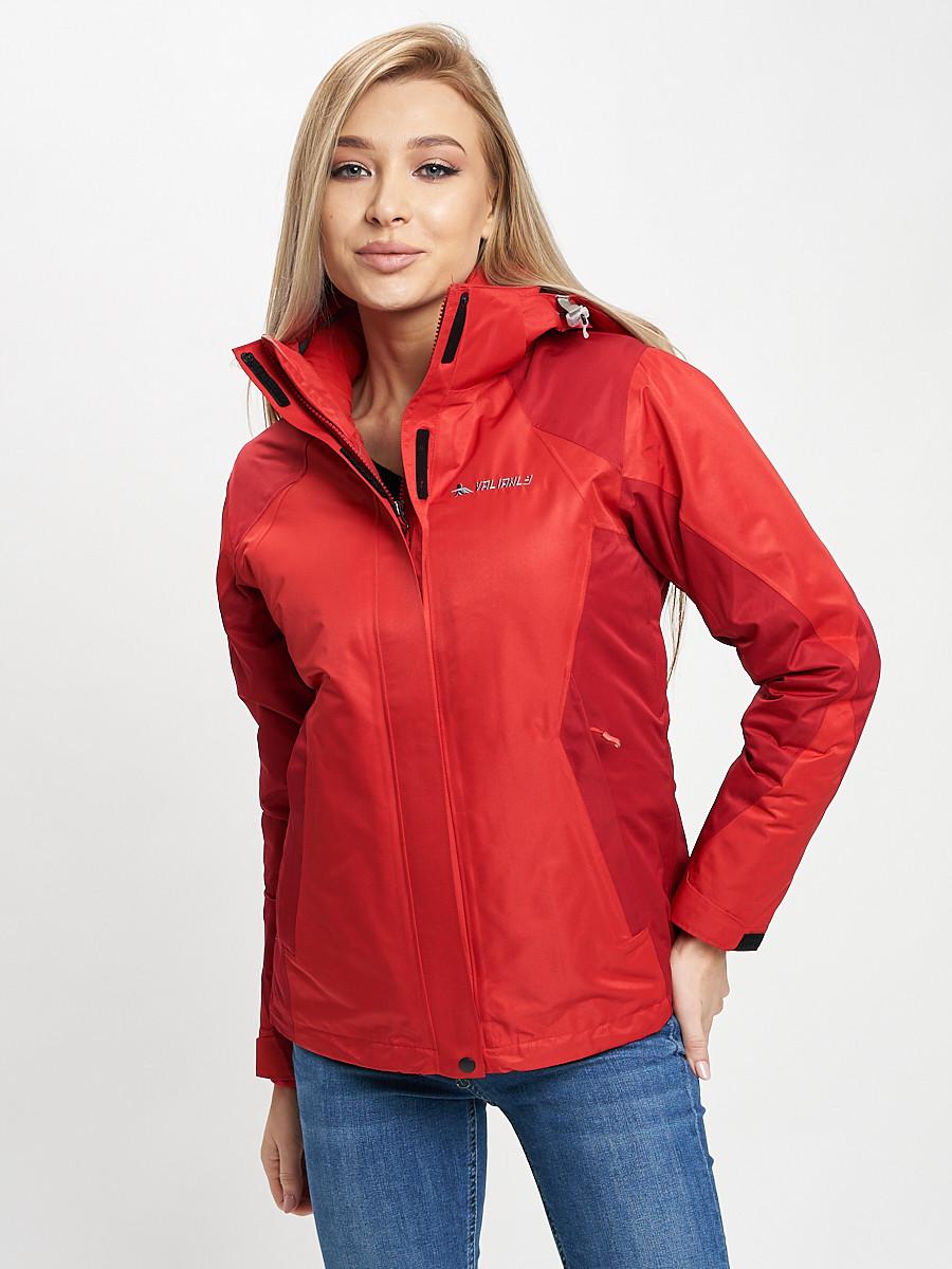 Купить оптом Куртка демисезонная 3 в 1 красного цвета 33213Kr в Екатеринбурге