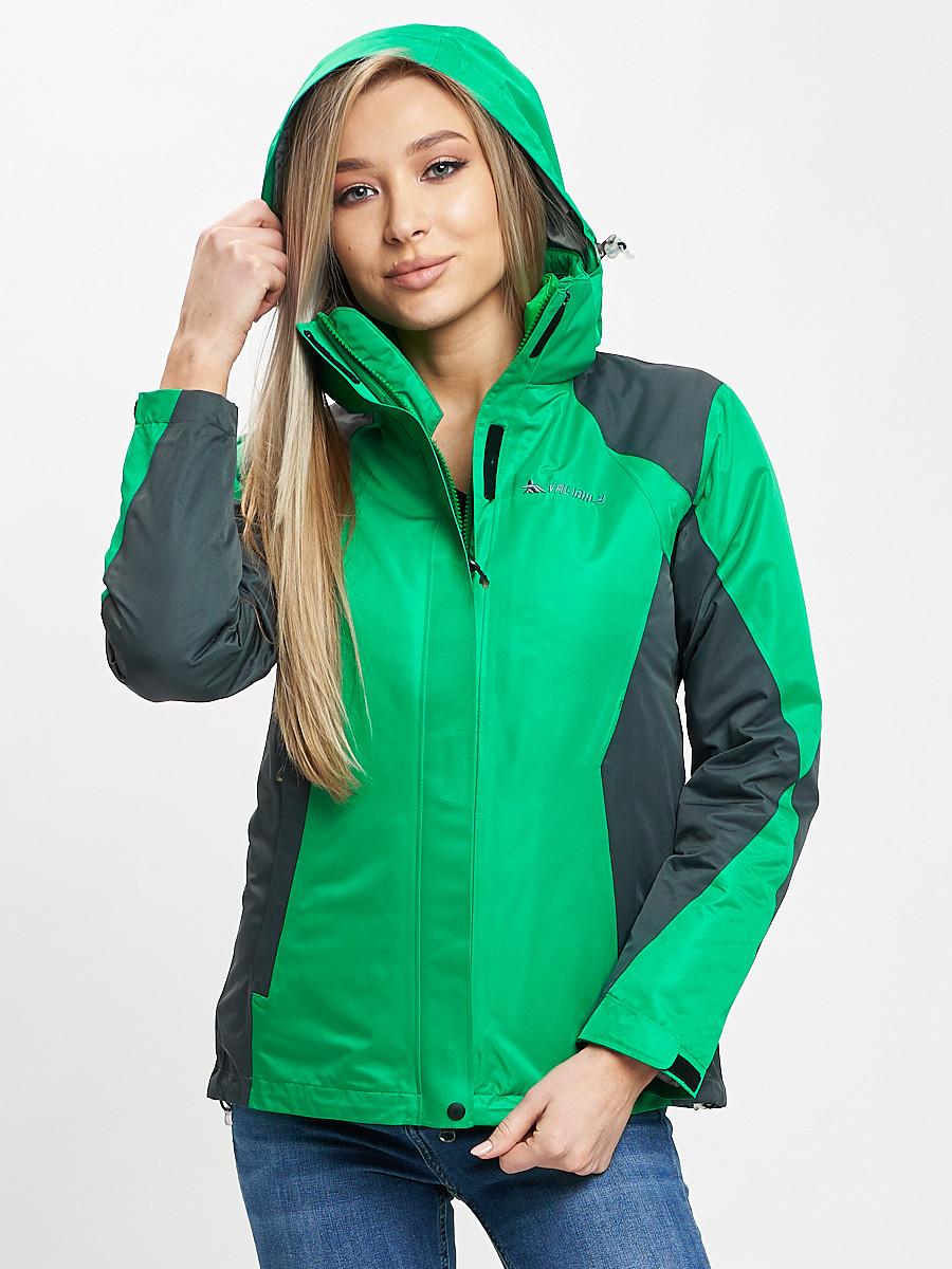 Купить оптом Куртка демисезонная 3 в 1 серого цвета 33213Sr в Екатеринбурге