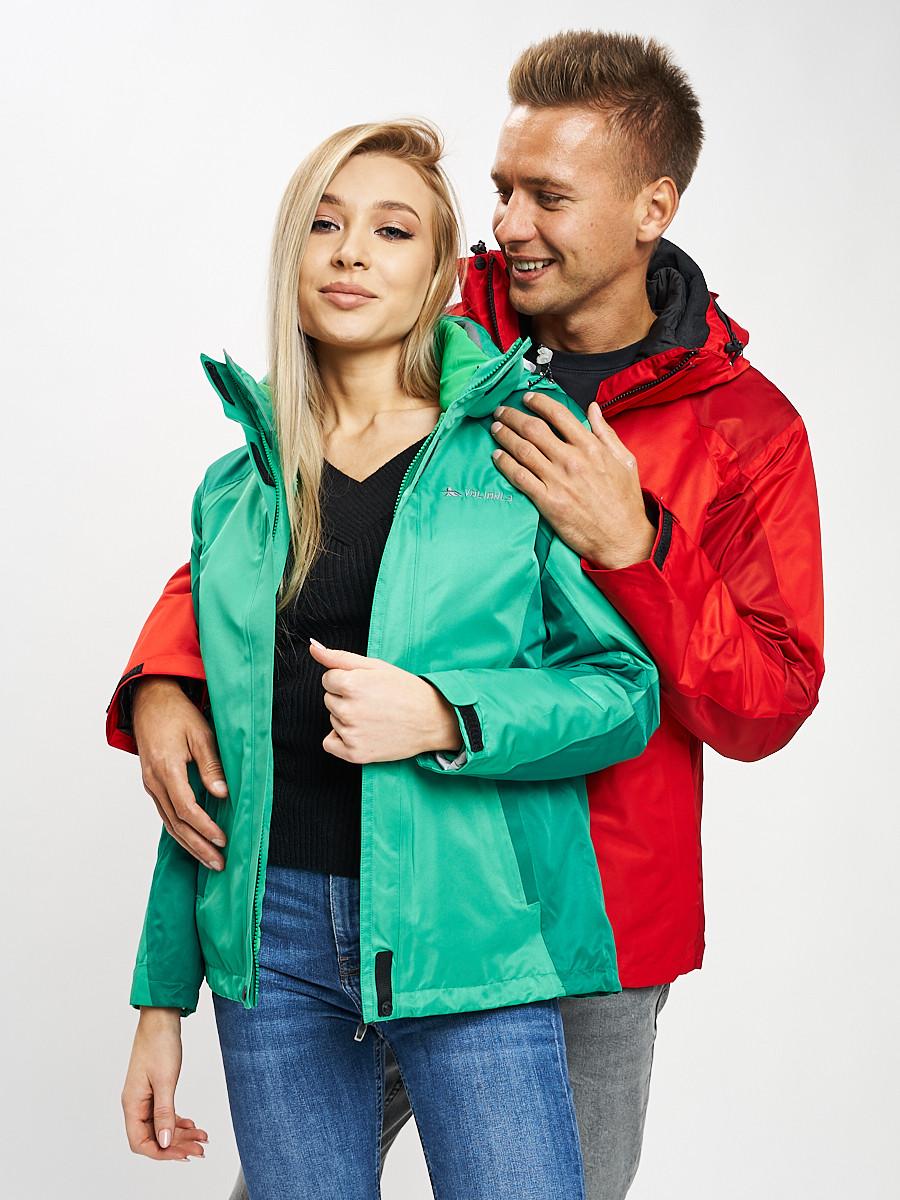 Купить оптом Куртка демисезонная 3 в 1 зеленого цвета 33213Z в Екатеринбурге
