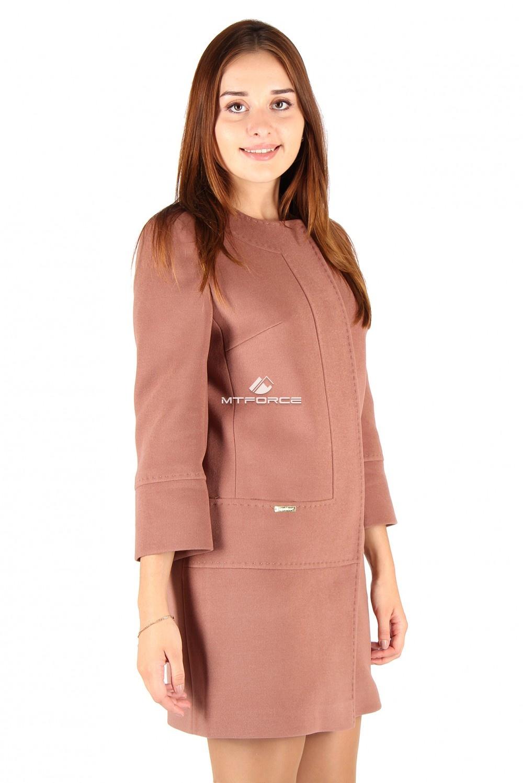 Купить                                  оптом Пальто женское бежевого цвета 332B