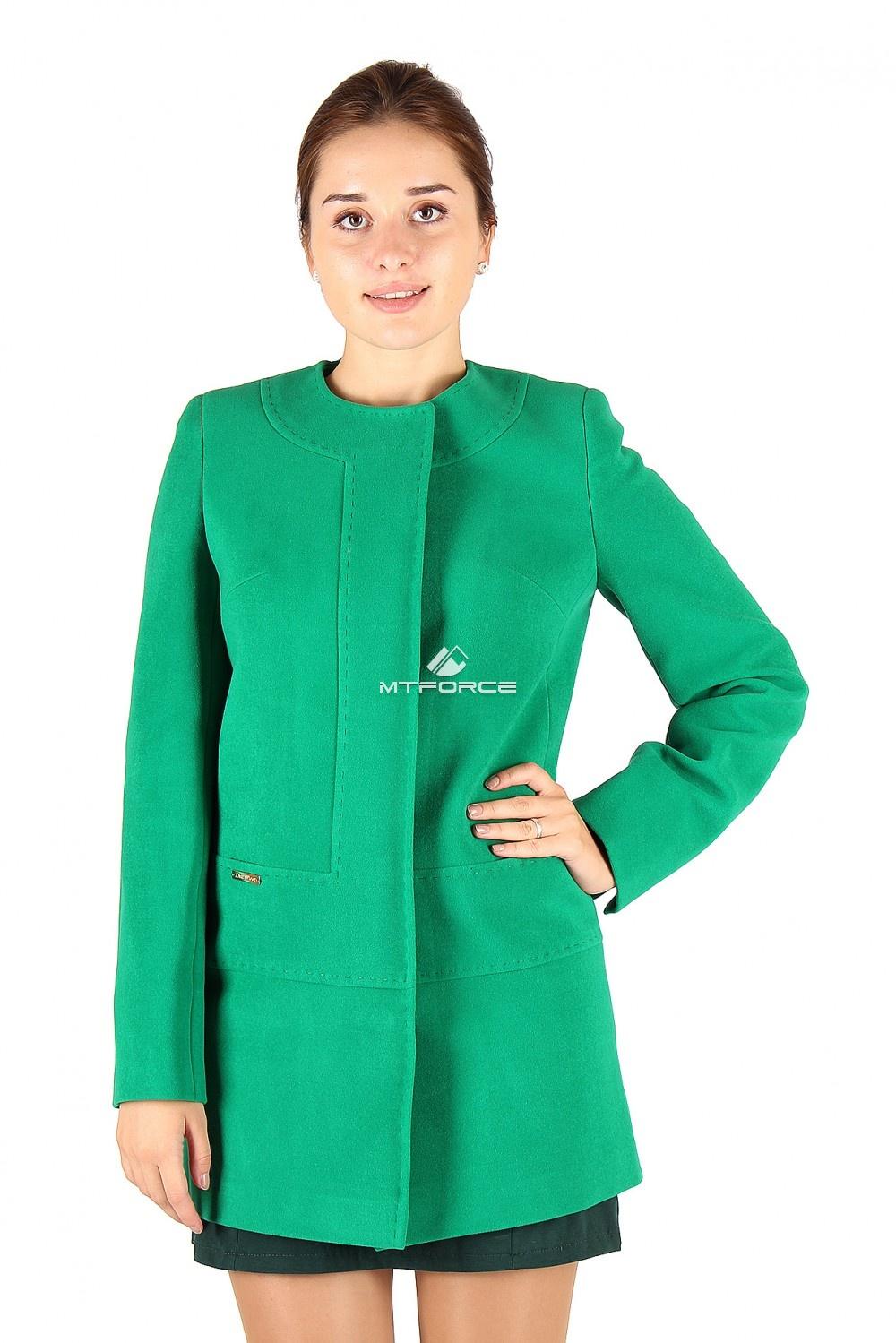 Купить  оптом Пальто женское зеленого цвета 332Z в Новосибирске