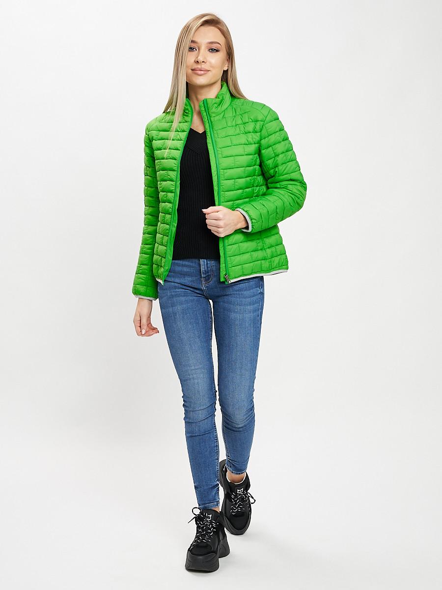 Купить оптом Стеганная куртка зеленого цвета 33310Z в Екатеринбурге
