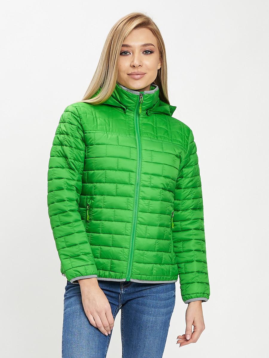 Купить оптом Стеганная куртка зеленого цвета 33315Z в Екатеринбурге